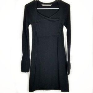 Athleta Womens XXS Hot Toddy Black Sweater Dress
